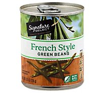 Signature SELECT Beans Green French Style Can - 8.25 Oz