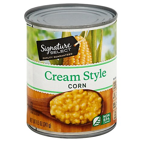 Signature SELECT/Kitchens Corn Golden Sweet Cream Style Can - 8.5 Oz