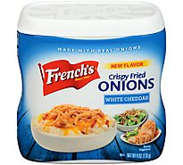 Frenchs Onions Crispy Fried White Cheddar - 6 Oz