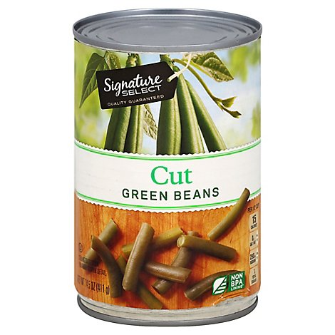 Signature SELECT Beans Green Cut - 14.5 Oz