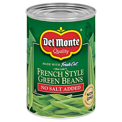 Del Monte Fresh Cut Green Beans Blue Lake French Style No Salt Added - 14.5 Oz