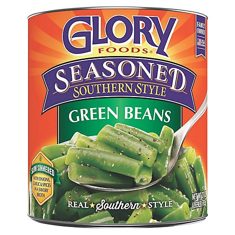 Glory Foods Seasoned Southern Style Green Beans - 27 Oz