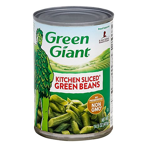 Green Giant Beans Green Kitchen Sliced - 14.5 Oz