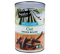 Signature SELECT Beans Green Cut No Salt Added - 14.5 Oz