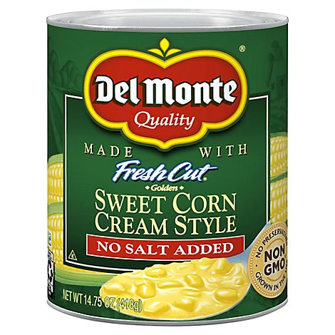 Del Monte Corn Cream Style Golden Sweet No Salt Added - 14.75 Oz