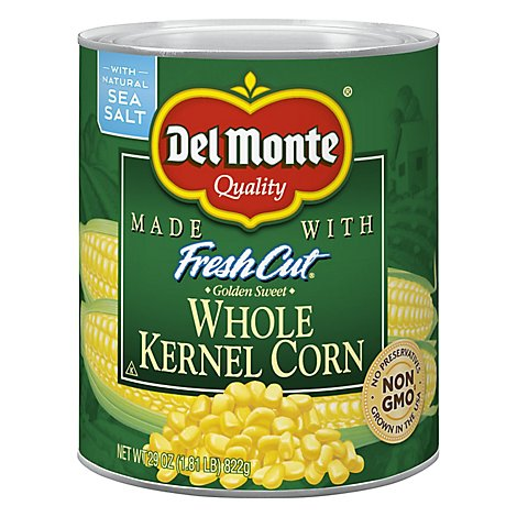 Del Monte Corn Whole Kernel Golden Sweet with Natural Sea Salt - 29 Oz