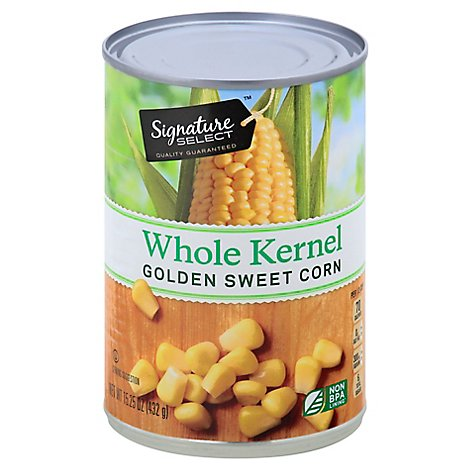 Signature SELECT Corn Whole Kernel Golden Sweet Can - 15.25 Oz