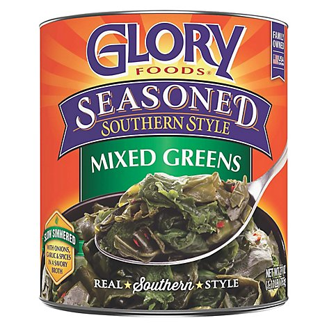 Glory Foods Seasoned Southern Style Greens Mixed - 27 Oz
