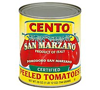 CENTO Tomatoes Peeled With Basil Leaf San Marzano - 28 Oz