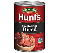 Hunts Tomatoes Diced Fire-Roasted - 14.5 Oz