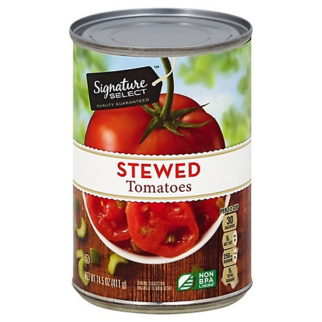 Signature SELECT Tomatoes Sliced Stewed - 14.5 Oz