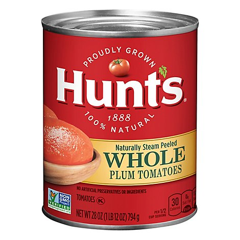 Hunts Plum Tomatoes Peeled Whole - 28 Oz