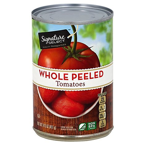 Signature SELECT Tomatoes Peeled Whole - 14.5 Oz