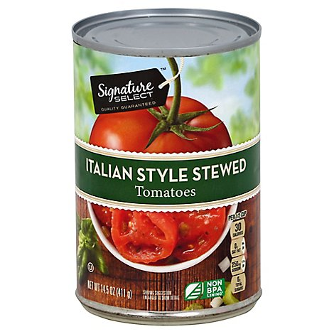 Signature SELECT Tomatoes Stewed Italian Style - 14.5 Oz