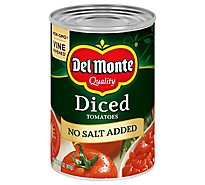 Del Monte Tomatoes Diced No Salt Added - 14.5 Oz