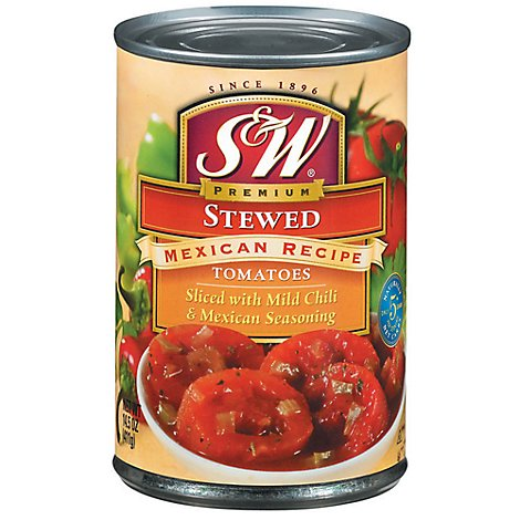 S&W Tomatoes Stewed Premium Mexican Recipe - 14.5 Oz