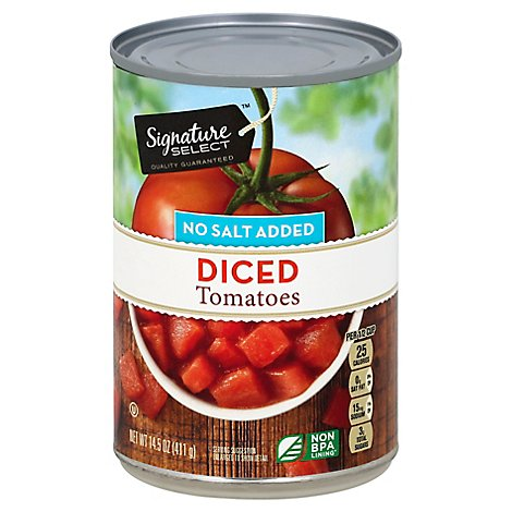 Signature SELECT Tomatoes Diced No Salt Added - 14.5 Oz