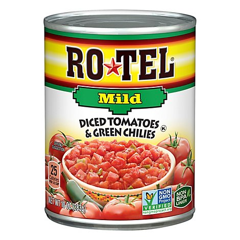 RO-TEL Diced Tomatoes & Green Chilies Mild - 10 Oz