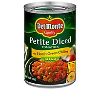 Del Monte Tomatoes Diced with Zesty Mild Green Chilies - 14.5 Oz