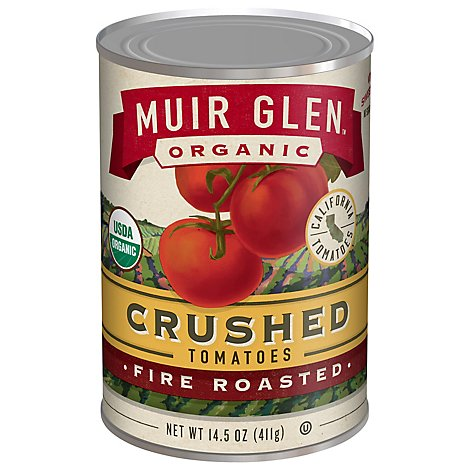 Muir Glen Tomatoes Organic Crushed Fire Rosted - 14.5 Oz