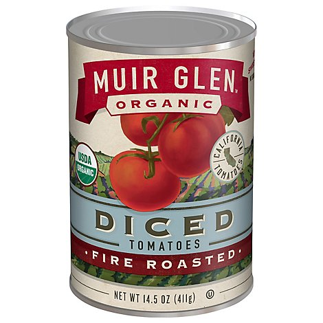 Muir Glen Tomatoes Organic Diced Fire Rosted - 14.5 Oz