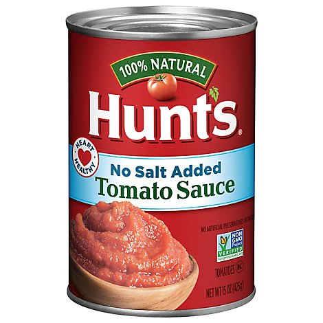 Hunts Tomato Sauce No Salt Added - 15 Oz