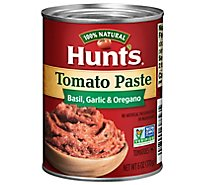 Hunts Tomato Paste Basil Garlic & Oregano - 6 Oz