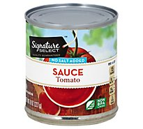 Signature SELECT Tomato Sauce No Salt Added - 8 Oz