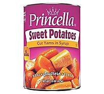 Princella Potatoes Cut Yams In Light Syrup Cut Sweet Potatoes - 15 Oz
