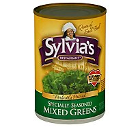 Sylvias Greens Mixed Specially-Seasoned - 14.5 Oz