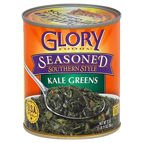 Glory Foods Seasoned Southern Style Greens Kale - 27 Oz