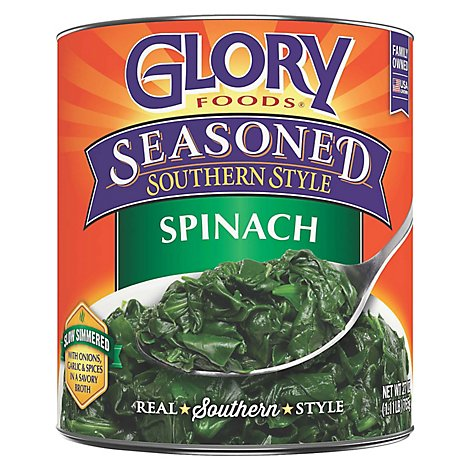 Glory Foods Seasoned Southern Style Spinach - 27 Oz