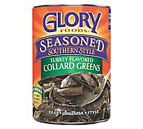Glory Foods Seasoned Southern Style Greens Collard Turkey Flavored - 14.5 Oz