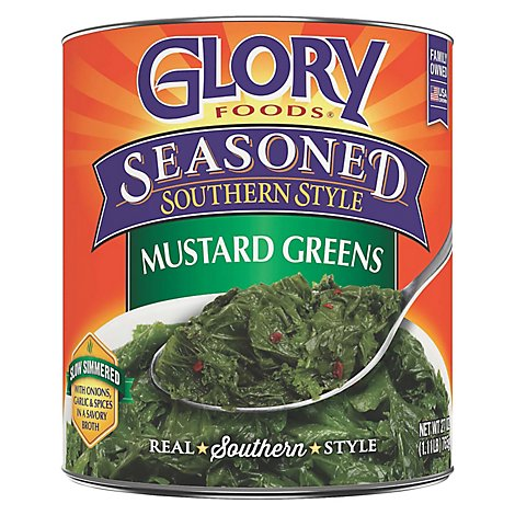 Glory Foods Seasoned Southern Style Greens Mustard - 27 Oz