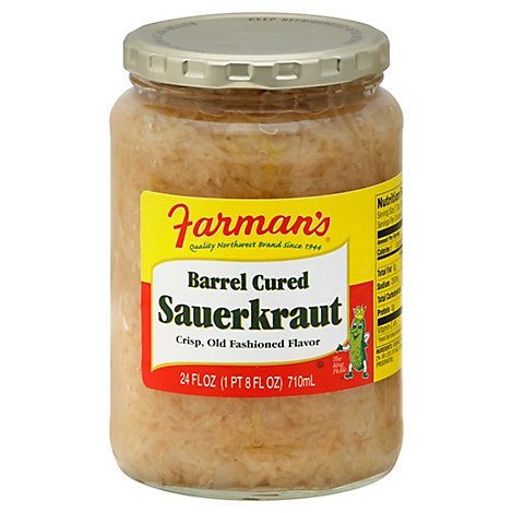 Farmans Sauerkraut Barrel Cured - 24 Oz