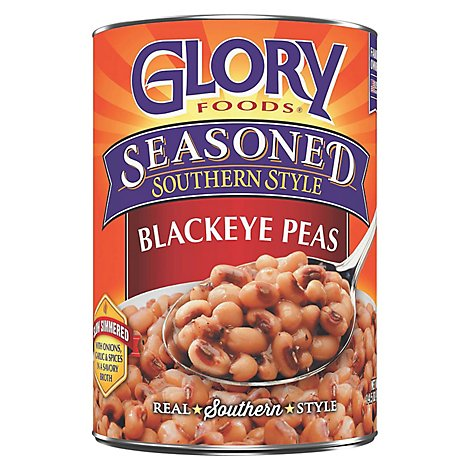 Glory Foods Seasoned Southern Style Peas Blackeyed - 14.5 Oz