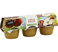 Signature SELECT Apple Sauce Unsweetened Cups - 6-4 Oz