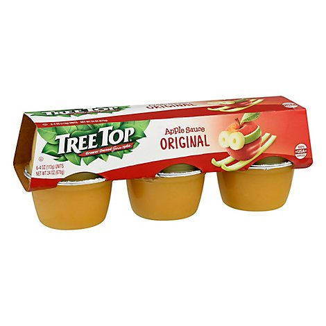 Tree Top Apple Sauce Original Cups - 6-4 Oz