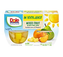 Dole Mixed Fruit in 100% Fruit Juice Cups - 4-4 Oz