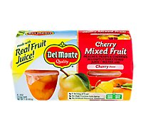 Del Monte Mixed Fruit in Light Syrup Cherry Cups - 4-4 Oz