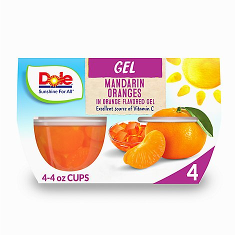 Dole Mandarins in Orange Gel Cups - 4-4.3 Oz