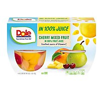 Dole Cherry Mixed Fruit in 100% Fruit Juice Cups - 4-4 Oz