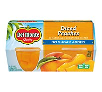 Del Monte Peaches Diced Cups - 4-3.75 Oz