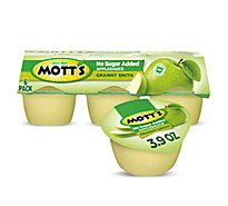 Motts Healthy Harvest Applesauce Granny Smith No Sugar Added Cups - 6-3.9 Oz