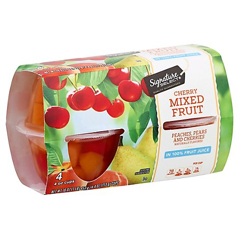 Signature SELECT Mixed Fruit Extra Cherry Cups - 4-4 Oz