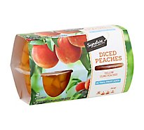 Signature SELECT Peaches Diced Cups - 4-4 Oz