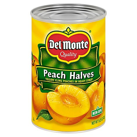 Del Monte Peaches Halves - 15.25 Oz