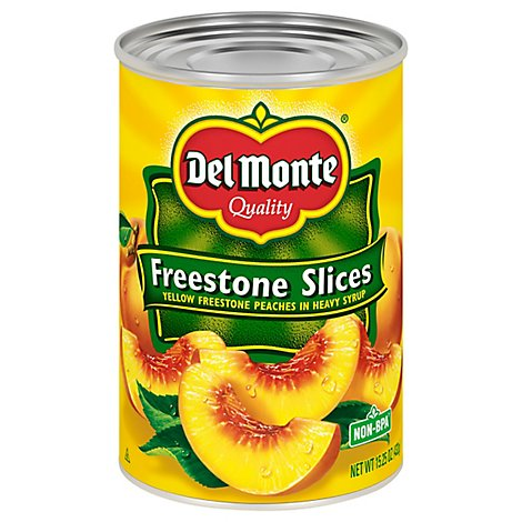 Del Monte Peaches Sliced in Heavy Syrup Freestone Yellow Freestone - 15.25 Oz