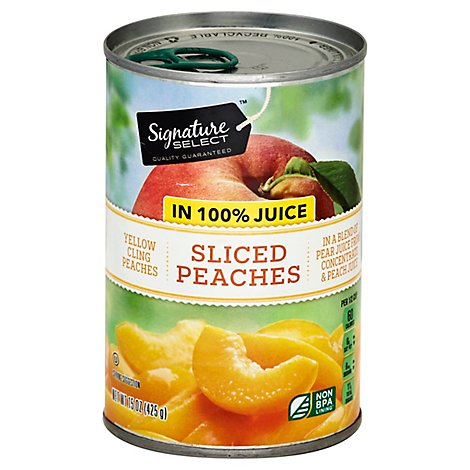 Signature SELECT Peaches Sliced in 100% Juice - 15 Oz
