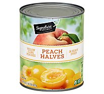 Signature SELECT Peaches Halves in Heavy Syrup Can - 29 Oz